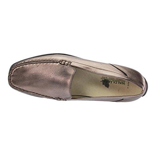 WALDLÄUFER Harriet 431000-103- Bequemschuhe/Lose Einlage Damenschuhe Bequeme Ballerina/Slipper, Mehrfarbig, Leder (anatol), Absatzhöhe: 20 MM Metall
