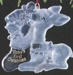 Hallmark 1989 Baby's first Christmas acrylic Christmas ornament - 1st Christmas Acrylic
