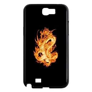 Dragon Samsung Galaxy N2 7100 Cell Phone Case Black ucyg