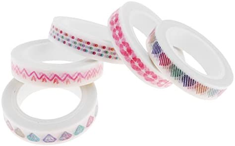 5個セット スクラップブッキング装飾 和紙 接着性 装飾テープ