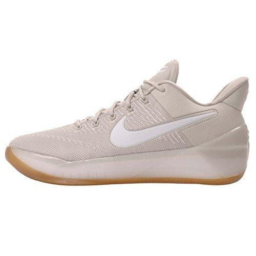 Nike Kids Kobe A.D. GS, Light Bone / White - Pale Grey, Youth Size (Bedford Five Light)