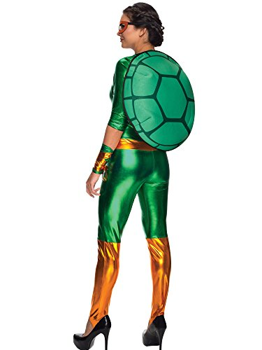 Secret Wishes Women's Teenage Mutant Ninja Turtles Michelangelo Costume Jumpsuit, Multi, -