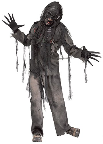 Skeleton Zombie Adult Mens Costumes (Burnt Dead Zombie Adult Costume)