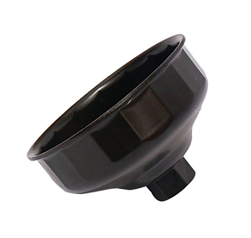 (Qbreloh 86mm Oil Filter Wrench for Volvo and Compatible with BMW Smooth Top Cartridge Style Oil Filter Cap, 3/8
