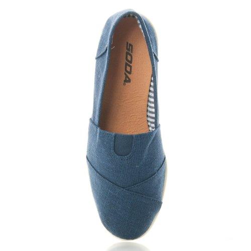 Soda Women Object Flats-Shoes Marine