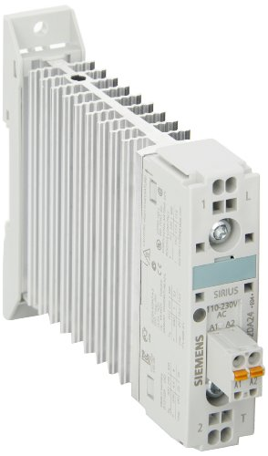 Siemens 3UG4621-2AA30 Monitoring Relay, Single Phase Current Monitoring, 22.5mm Width, Cage Clamp Terminal, 1 CO Contacts, 2.0mA AC/DC Measuring Range, 0.1mA-250mA Hysteresis, 0-20 s Starting Bypass Time, 0-20 s Off Delay, 24-240VAC/DC Auxiliary Voltage