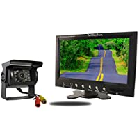 Tadibrothers 9 Inch Monitor and a 120 Degree Mounted RV Backup Camera (RV Backup System)
