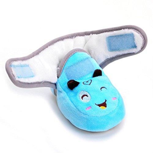 Baby Stiefel,Chshe Ausdruck Neugeborenes Baumwolle Säuglingsbaby-Mädchen-feste Krippe schuhe Weiche alleinige rutschfeste Aufladung Himmelblau