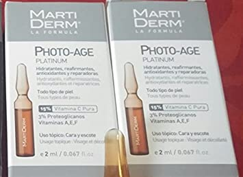 Amazon.com: MARTIDERM PLATINUM PHOTO AGE , 20 Photo-Age Ampoules, INNOVATIVE DERMOCOSMETICS, intensive anti-aging treatment, 20 Photo-Age Ampoules: Beauty