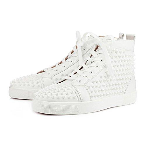 Cuckoo Uomini Rivet Hightop Scarpe di Moda Gli Stivali Sneakers Bianca Salida Cómoda Elección En Línea Almacenar Con Gran Descuento bBweBN3aEN