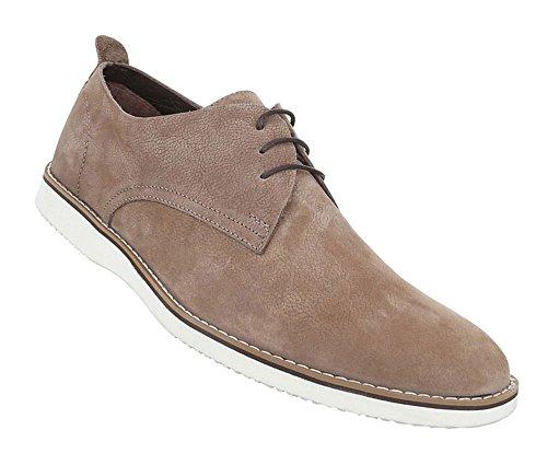 Herren Schuhe Business-schuhe Leder Schnürer Beige