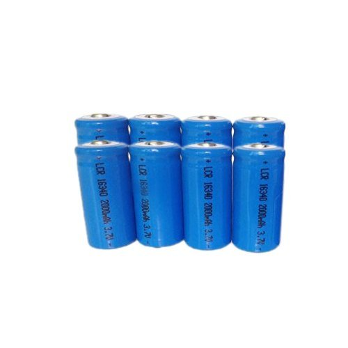 Ponnky 8 x 2000mah 3.7v Cr123a 16340 Li-ion Rechargeable Battery by Gorde