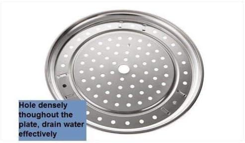 Steam rack holder wok plate tray hole veg dim sum stainless steel pot mutli use