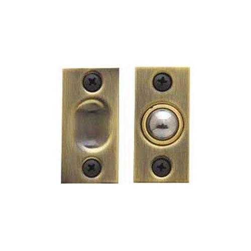 Baldwin Estate 0426.050 Solid Brass Adjustable Ball Catch in Satin Brass, - Latch Brass Satin Estate