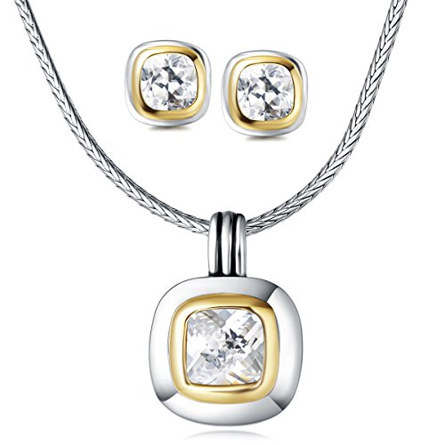 (UNY Elegant Jewelry Sets Luxury Trendy Antique Fashion Designer Inspired Vintage Women Christmas Gift (White))