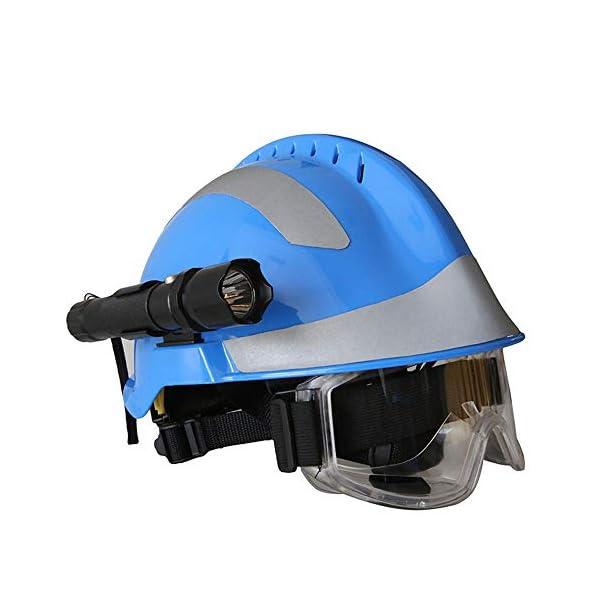 Casco de Rescate al Aire Libre, Kit de protección de Emergencia de Casco de Rescate de terremoto con Gafas y Linterna de deslumbramiento Fyxd 2