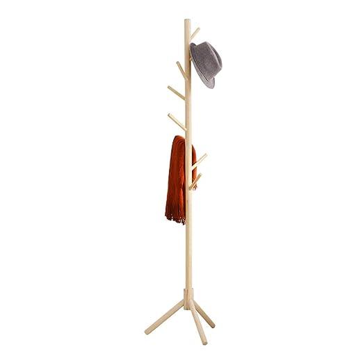 JQWGYYMJ Perchero, 177 × 40 cm - Perchero de Madera Maciza ...