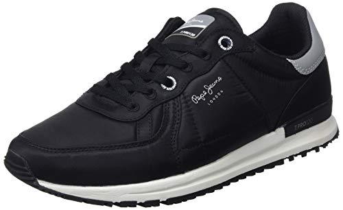 Pepe Jeans Men's Low-Top Sneakers, Black Black