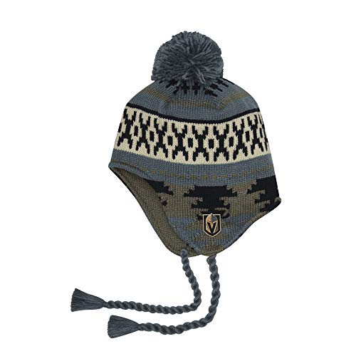 (adidas Vegas Golden Knights Tassel Knit Hat)