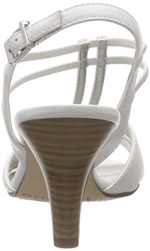Tamaris 28304, Women's T-Bar Sandals White - Weiß (White Matt 108)