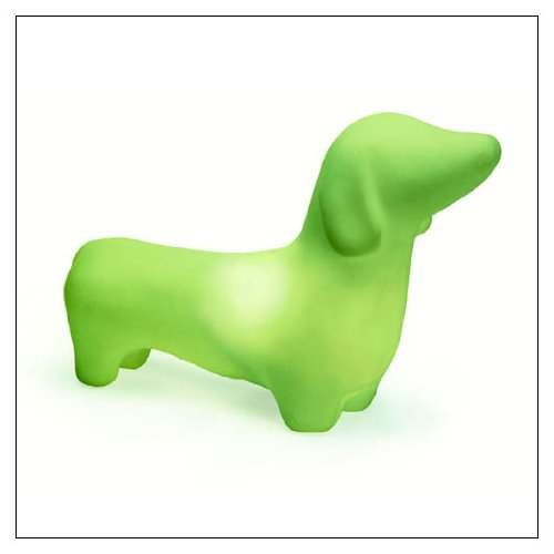 Lamp Green Mist - OFFI Home MEGDAS-G Dachshund Accent Lamp, 20.5