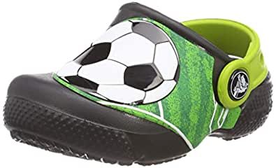 Crocs Unisex Kids Fun Lab Football Clog, Black, J1