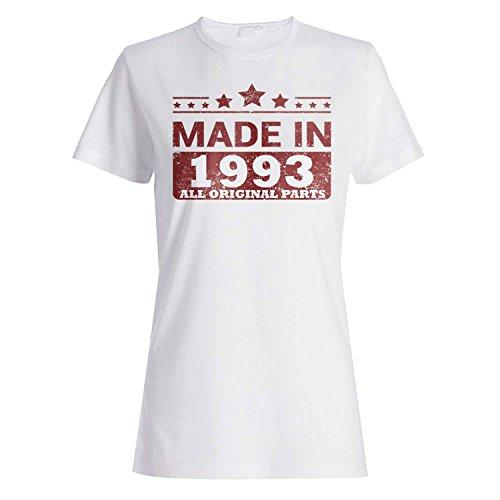 Made in 1993 Alle Originalteile Lustige Neuheit Damen T-shirt jj89f