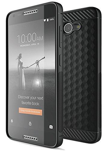 T-Mobile REVVL Case, KuGi Alcatel A30 Verizon case, MS Style Slim Lightweight Premium Flexible Soft TPU Case for Alcatel A30 Verizon/T-Mobile REVVL Smartphone(Black)