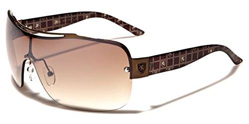 Khan Square Aviators Womens Rimless Fashion Designer Celebrity Sunglasses New