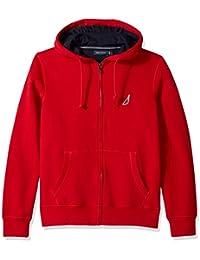 Men's Long Sleeve Sueded Fleece Full Zip Hoodie Sweatshirt