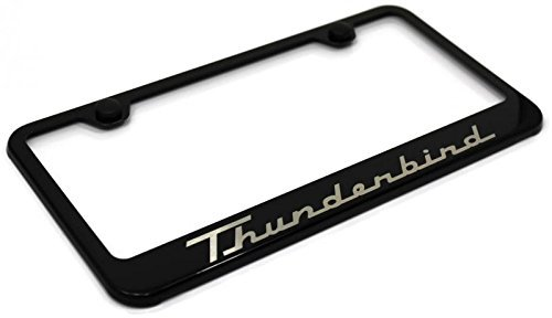 Ford Thunderbird License Plate Frame Stainless Steel Standard Black Powder (Thunderbird License Plate Frame)