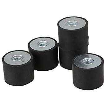 Cnbtr 40x30mm black de rubber female m8 thread mounts for Vibration dampening motor mounts