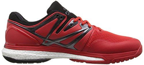 Adidas Performance Boost Stabil voleibol, Negro / Amarillo Solar / blanco, 7 M US Vivid Red/Clear/Blue