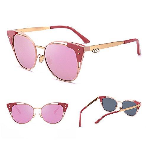 Gafas Protección Mujeres Peggy de Color Color la de de UV Aire Personalidad de de Viajar al Sol Gu Gato Conducción para C3 Lente Lente C3 Libre 6vqTr6w