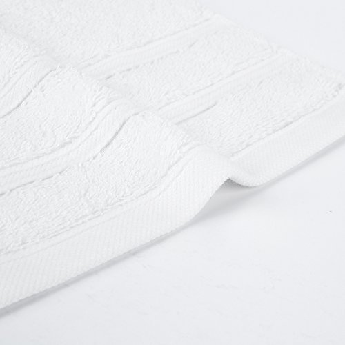"""HaoDuoYi 100% Cotton 16 Piece Washcloths 600GSM, Luxury, Soft,Spa and Hotel 13""""X13"""" White by HaoDuoYi (Image #4)"""