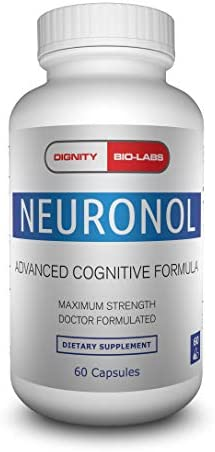 Neuronol by Dignity Bio-Labs Brain Health Formula for Memory Support, Focus, Clarity, and Concentration – 1 Nootropic formulated w Dmae, Bacopa Monnieri, Ginkgo Biloba More.