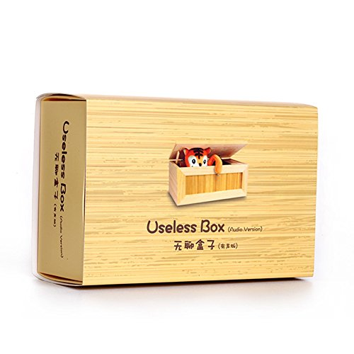 Alician Wooden Useless Box Leave Me Alone Box Most Useless Machine Don't Touch Tiger Toy Gift with Sound by Alician (Image #8)