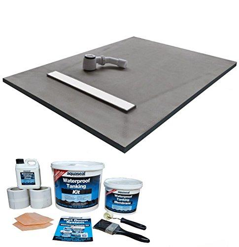 Nassboards Linear Wetroom Shower Tray & Aqua Kit