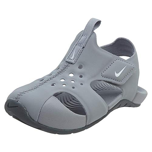Nike Toddler Boy's Sunray Protect 2 Sandal, Wolf Grey/White-Cool Grey, 3C (Nike Infant Boy Shoes)