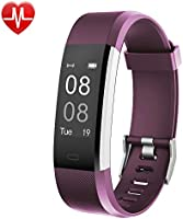 Fitness Tracker,YAMAY Activity Tracker Watch with Heart Rate Monitor Waterproof IP67 Fitness Watch,Sleep Monitor Step Counter Pedometer Watch for Kids Women Men Call SMS SNS Push for iOS Android Phone