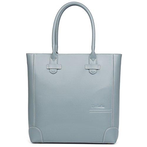 light blue leather handbags - 7
