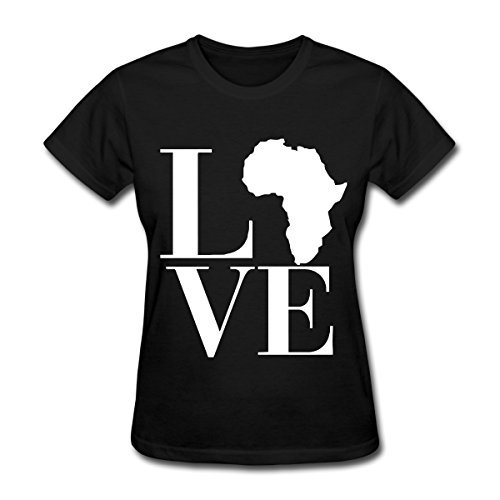 Spreadshirt Love Africa Continent Women's T-Shirt, 2XL, black by Spreadshirt