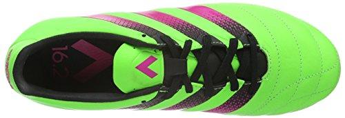 adidas Ace 16.2 Fg/Ag Leather, Botas de Fútbol para Hombre Verde / Rosa / Negro (Versol / Rosimp / Negbas)