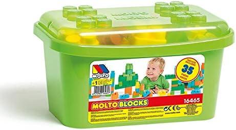 M MOLTO Caja de Bloques 35 Piezas: Amazon.es: Juguetes y juegos