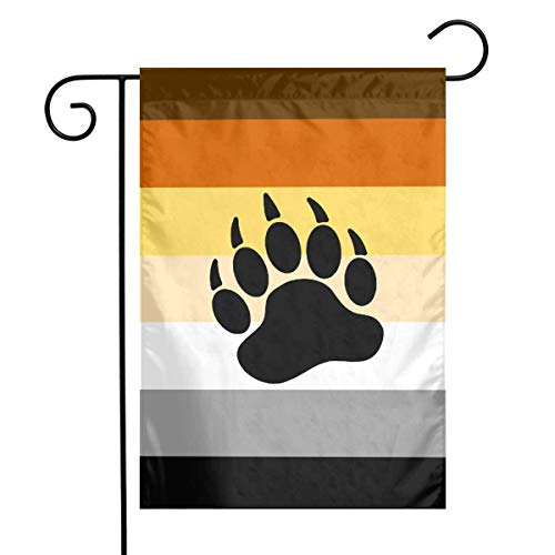 Better2019 Bear Pride Flag Stripe Garden Flags 12x18 Inch Outdoor Yard Flags for Garden Decor House Decoration | Polyester, Durable, Anti-Wrinkle, ()