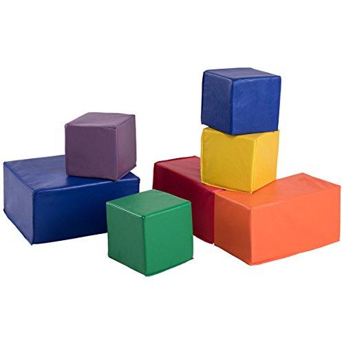 Costzon Soft Blocks, Stacking Playset, Foam Building Blocks for Kids (7-Piece) by Costzon