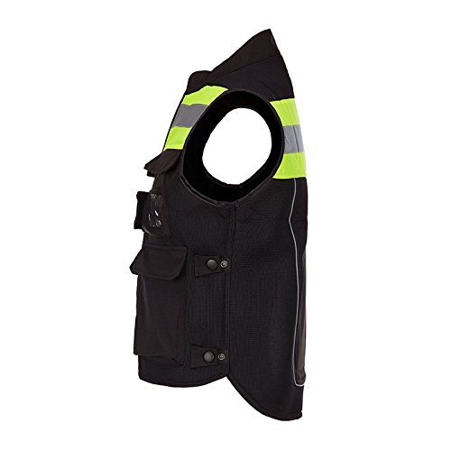 A.B Crew Reflective Motorcycle Biker Vest with Pockets High Visibility Base Safety Vest for Cycling Sport Street Racing, Green XL by A.B Crew (Image #3)