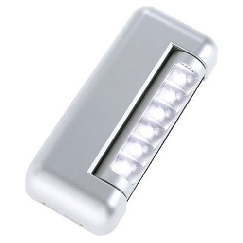 Light It! By Fulcrum 20042-301, 6 LED Wireless Under Cabinet Tap Light, 4.2 Inch, Silver -