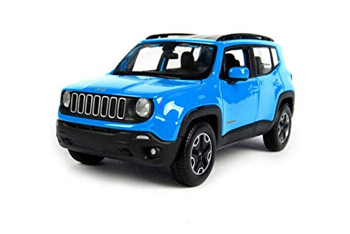 2017 Jeep Renegade SUV, Blue - Maisto 31282BU - 1/24 Scale Diecast Model Toy Car