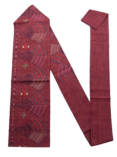 駐地独裁拾うリサイクル 名古屋帯 紬 八寸 幾何学模様 正絹